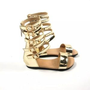 Other - Toddler Girls Gold Sandals